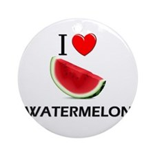 I Love Watermelon Ornament (Round)