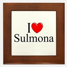 """I Love (Heart) Sulmona"" Framed Tile"