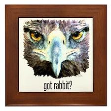 Got Rabbit? Framed Tile