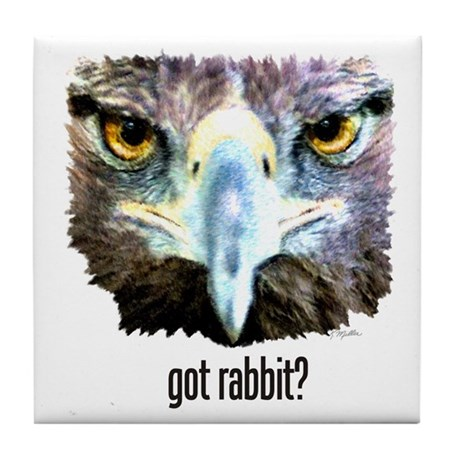Got Rabbit? Tile Coaster