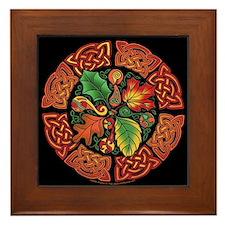 Celtic Autumn Leaves Framed Tile