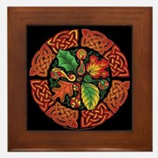 Celtic Autumn Leaves Framed Tile