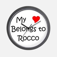 Cute Rocco Wall Clock