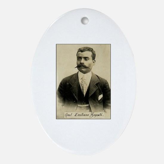 General Emiliano Zapata Oval Ornament