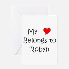 Unique Robyn Greeting Card