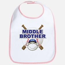 Middle Brother Baseball Bib