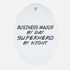 Business Major Superhero by Night Oval Ornament