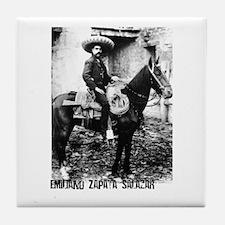 Emiliano Zapata Salazar Tile Coaster