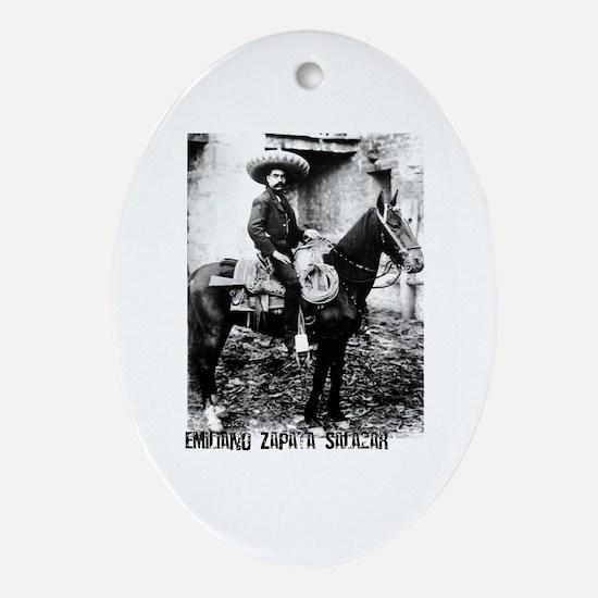 Emiliano Zapata Salazar Oval Ornament