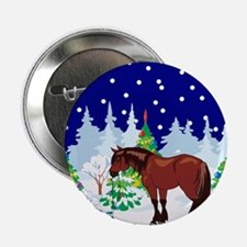 """Christmas Lights Clydesdale 2.25"""" Button"""
