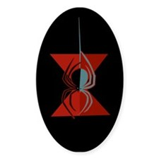 Red Hourglass Spider Oval Decal