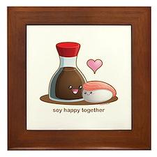 Soy happy together Framed Tile