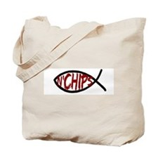 Jesus Fish and Chips Tote Bag