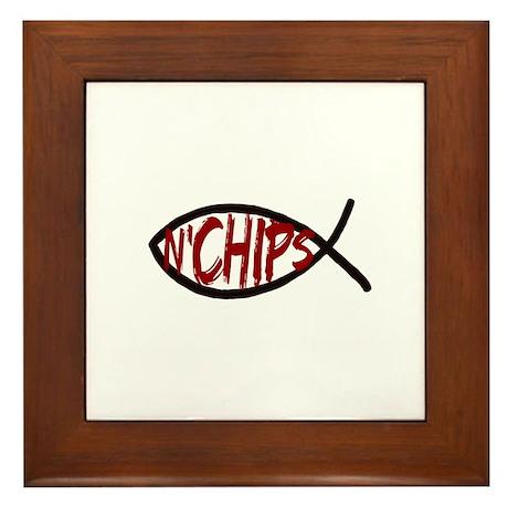 Jesus Fish and Chips Framed Tile