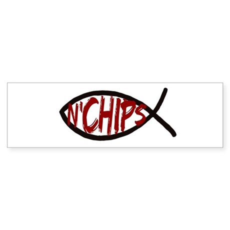 Jesus Fish and Chips Bumper Sticker