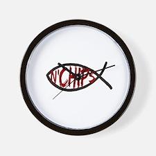 Jesus Fish and Chips Wall Clock