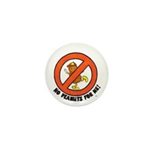 """""""No Peanuts For Me!"""" Mini Button (10 pac"""