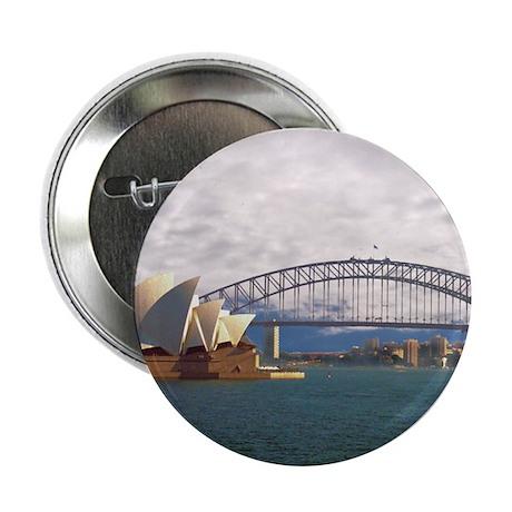 """Sydney Harbour Bridge 2.25"""" Button"""