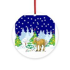 Christmas Lights Belgian Ornament (Round)