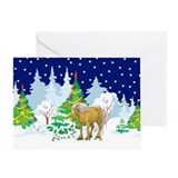 Belgian horse christmas Greeting Cards