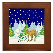 Christmas Lights Belgian Framed Tile