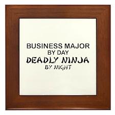 Business Major Deadly Ninja by Night Framed Tile