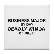 Business Major Deadly Ninja by Night Tile Coaster
