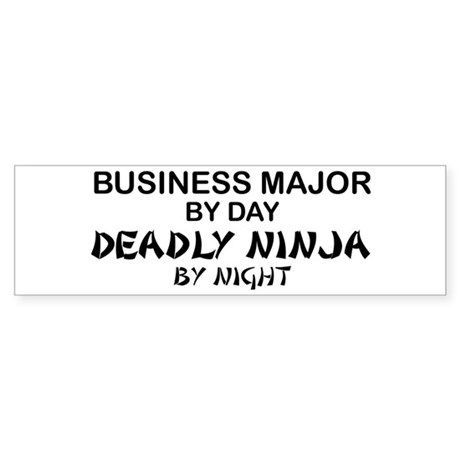 Business Major Deadly Ninja by Night Sticker (Bump