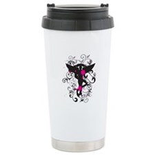 Grunge Chiro Caduceus Travel Coffee Mug