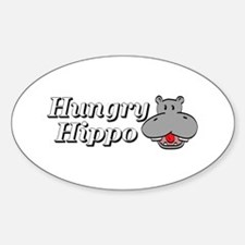 The Hungry Hippo Oval Decal