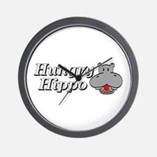 The Hungry Hippo Wall Clock
