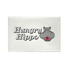 The Hungry Hippo Rectangle Magnet