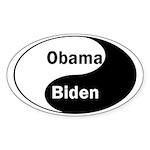 Obama-Biden Oval Yin Yang Sticker