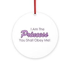 Sassy Purple Princess Ornament (Round)