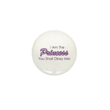 Sassy Purple Princess Mini Button