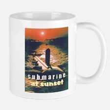 Submarine at Sunset Mug