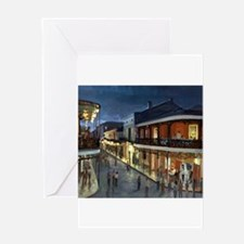 Cute Bourbon street Greeting Card