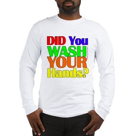 Washed Hands? (Colours) Long Sleeve T-Shirt