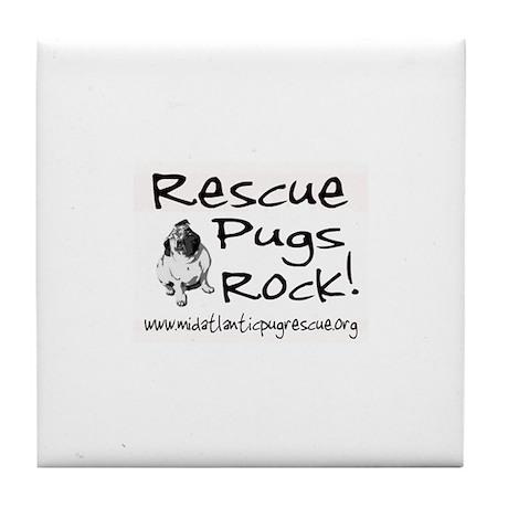 Rescue Pugs Rock! Tile Coaster