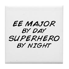 EE Major Superhero by Night Tile Coaster