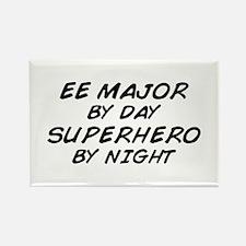 EE Major Superhero by Night Rectangle Magnet
