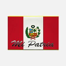 Unique Peru soccer Rectangle Magnet