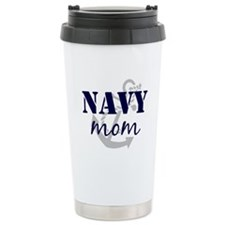 Navy Mom Travel Mug