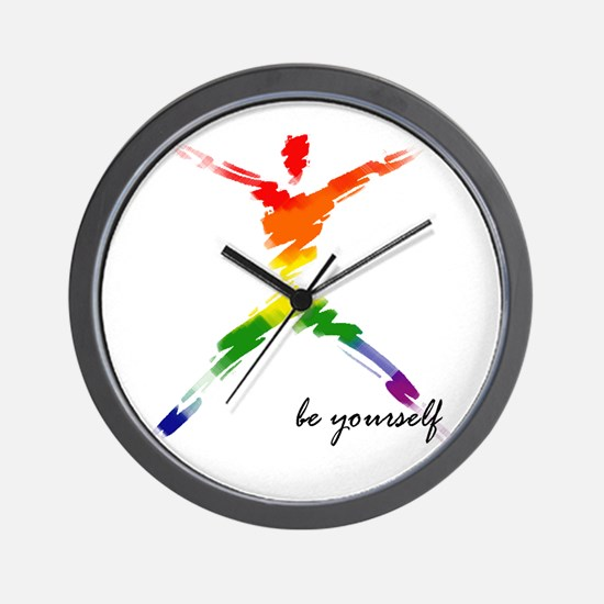 Gay Pride - Be Yourself Wall Clock