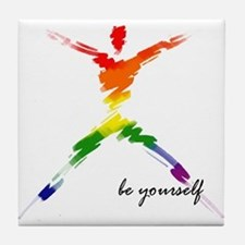 Gay Pride - Be Yourself Tile Coaster
