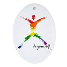 Gay Pride - Be Yourself Keepsake (Oval)