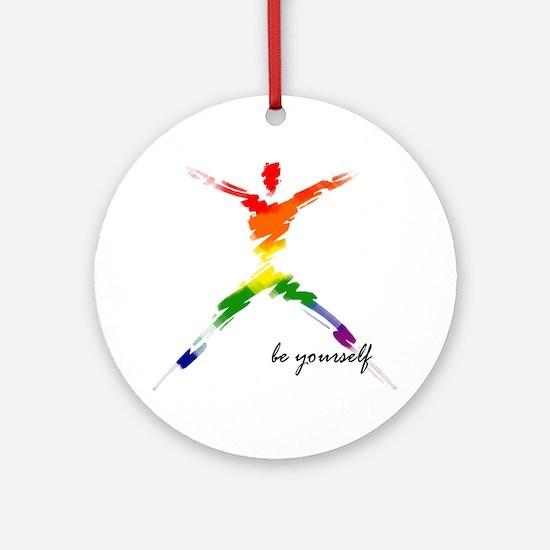 Gay Pride - Be Yourself Keepsake (Round)