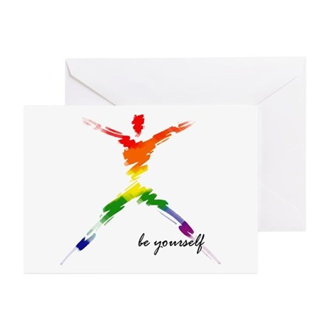 Gay Pride - Be Yourself Greeting Cards (Package of