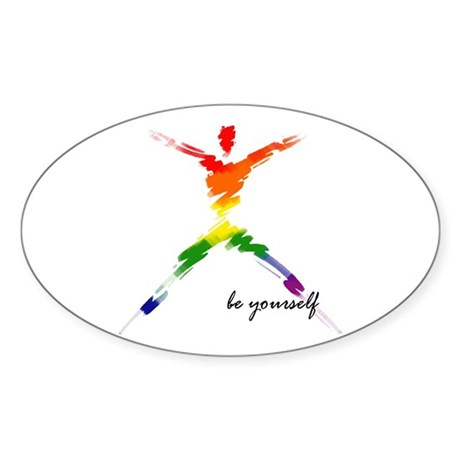 Gay Pride - Be Yourself Oval Sticker