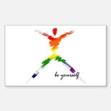 Gay Pride - Be Yourself Rectangle Decal